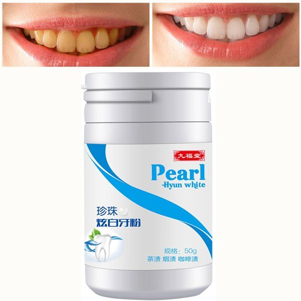 Teeth Whitening Pearl Powder Herbal Black Bamboo Charcoal Remove Tooth Stain Cleaning Teeth Powder