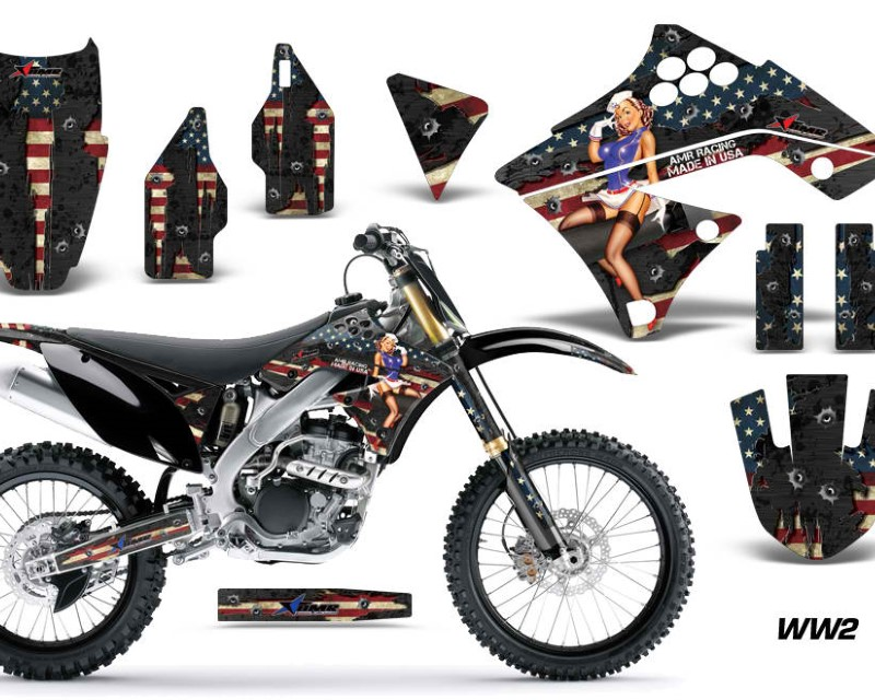 AMR Racing Dirt Bike Graphics Kit Decal Sticker Wrap For Kawasaki KX250F 2009-2012áWW2 BOMBER