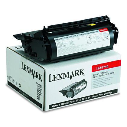 Lexmark 12A5745 12A5845 Original Black Toner Cartridge High Yield