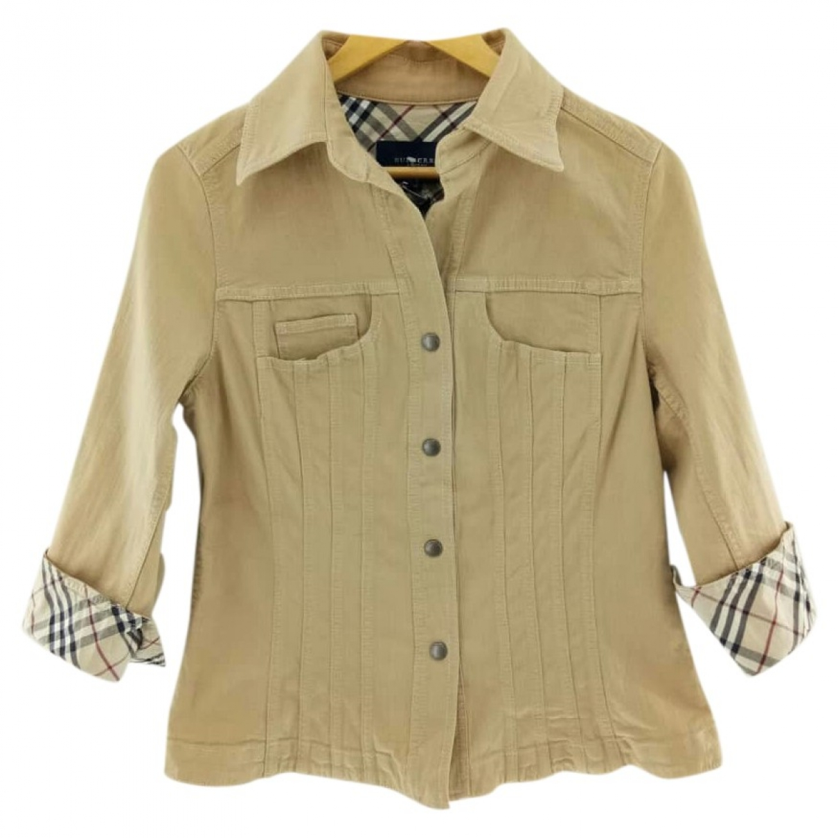Burberry \N Beige Denim - Jeans jacket for Women M International