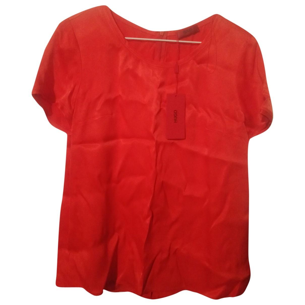 Hugo Boss \N Red Silk  top for Women 38 FR