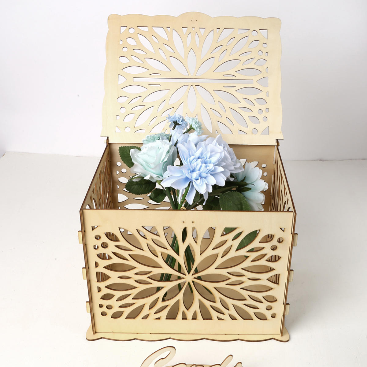 Wooden Wedding Wishing Card Post Box with LockGift Card Wishing Boxes Party