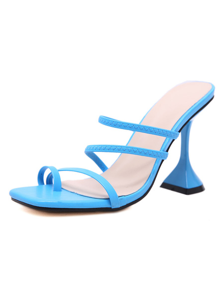 Milanoo High Heel Sandals Womens Open Toe Slingback Special Shaped Heel Sandals