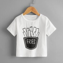 Toddler Boys Letter Graphic Round Neck Tee