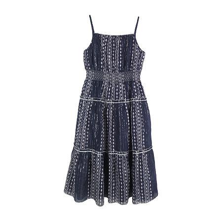 Lilt Little & Big Girls Sleeveless Maxi Dress, Medium (10-12) , Blue
