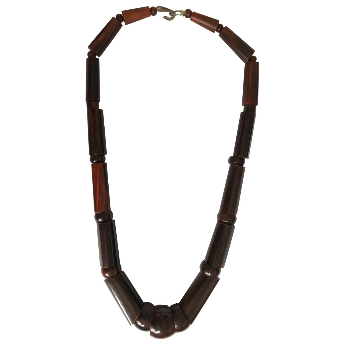 Non Signé / Unsigned \N Brown Horn Long necklace for Women \N