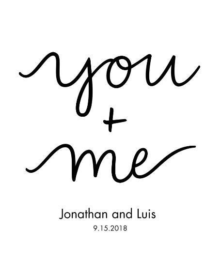 Non-Photo 16x20 Poster, Home Décor -You+Me