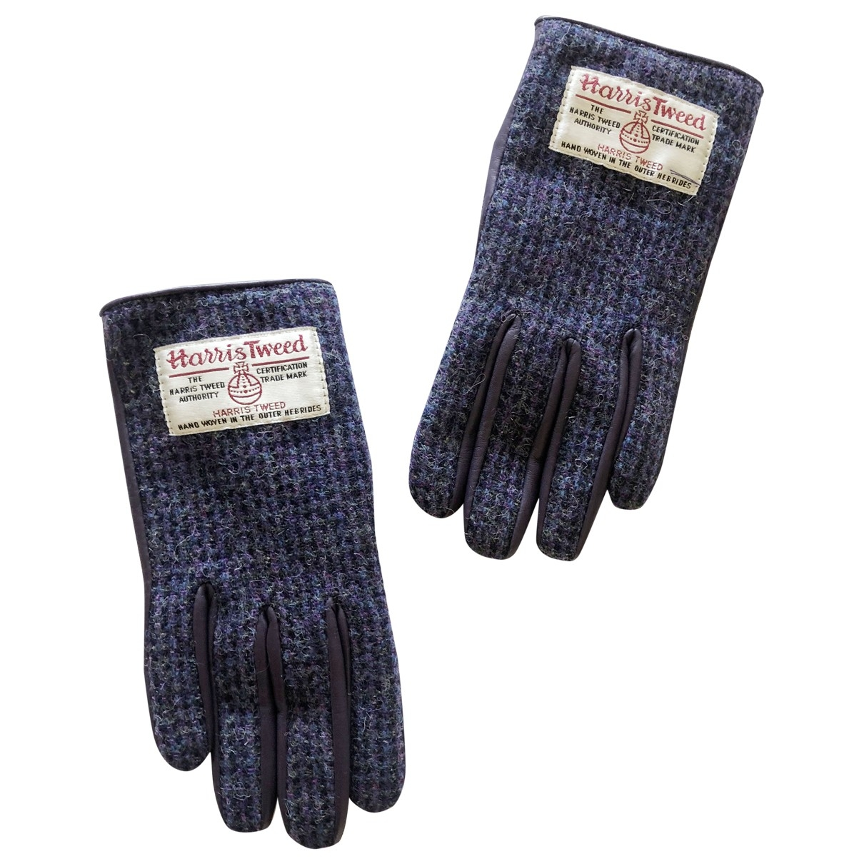 Non Signé / Unsigned \N Purple Wool Gloves for Women S International