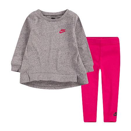 Nike Toddler Girls 2-pc. Legging Set, 2t , Pink