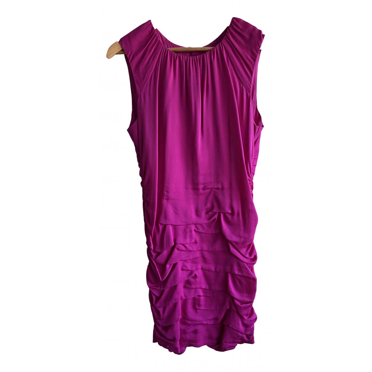 Diane Von Furstenberg \N Pink Silk dress for Women 12 US