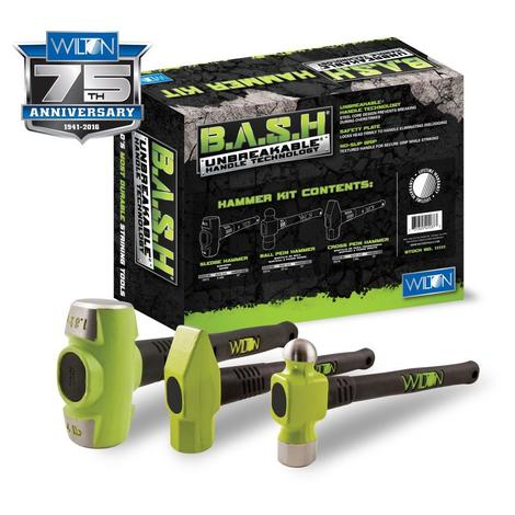 Wilton B.a.s.h® Mechanics Hammer Kit with 1 of Each of ##20412, ##33214, ##30216