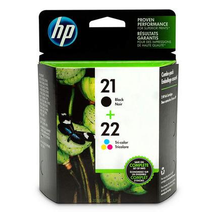 HP 21 22 C9509FC C9509BN cartouche d'encre originale combo noire et tri-couleur