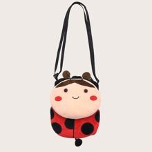 Kids Cartoon Ladybug Design Crossbody Bag