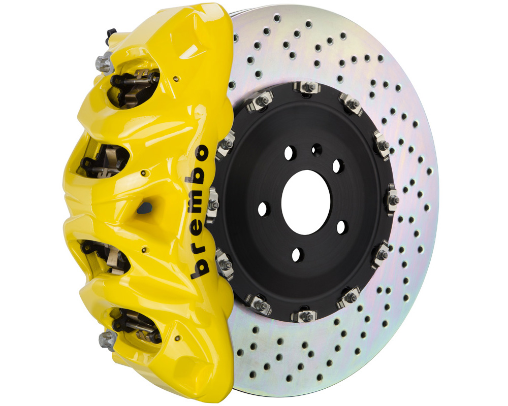 Brembo GT 412x38 2-Piece 8 Piston Yellow Drilled Front Big Brake Kit