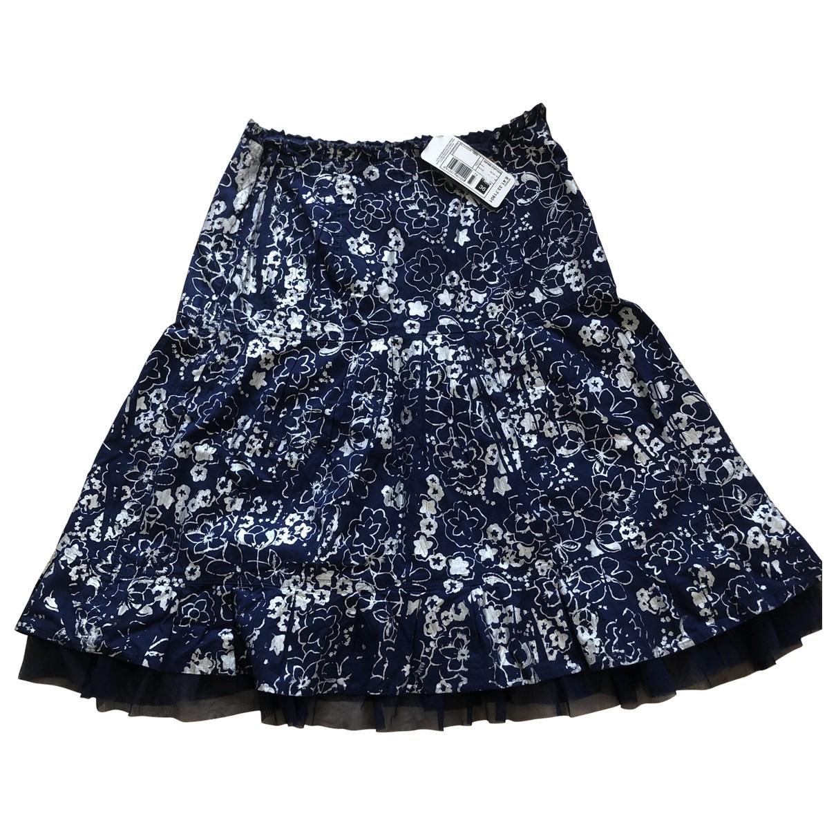 Adolfo Dominguez \N Navy Cotton skirt for Women 36 FR