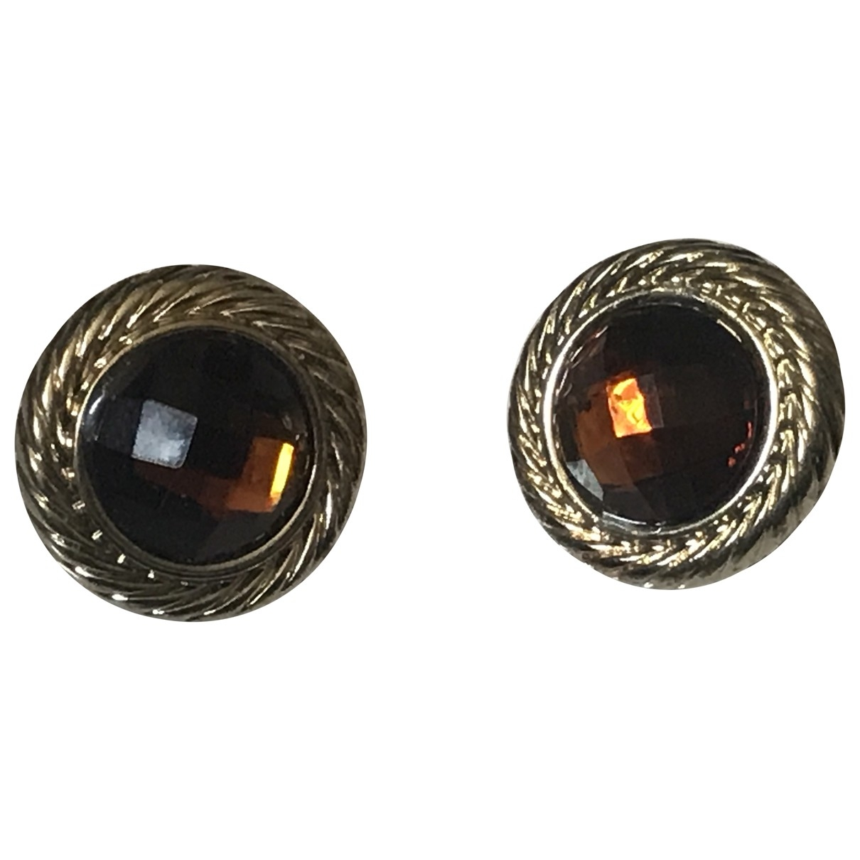 Non Signé / Unsigned \N Brown Metal Earrings for Women \N