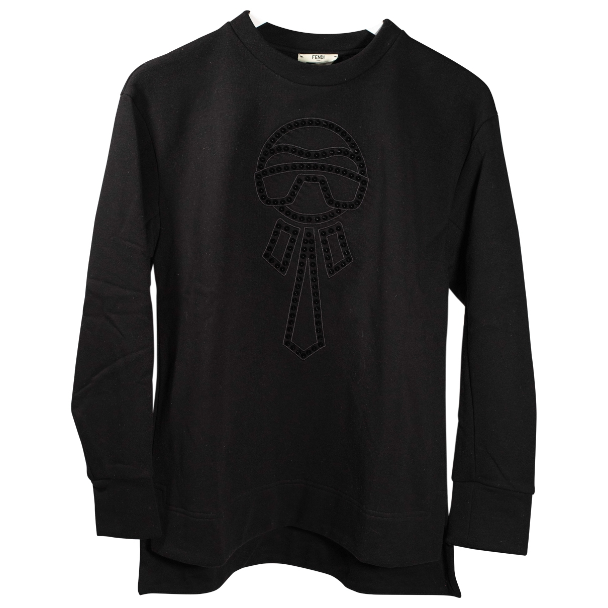 Fendi \N Black Cotton Knitwear for Women 36 FR