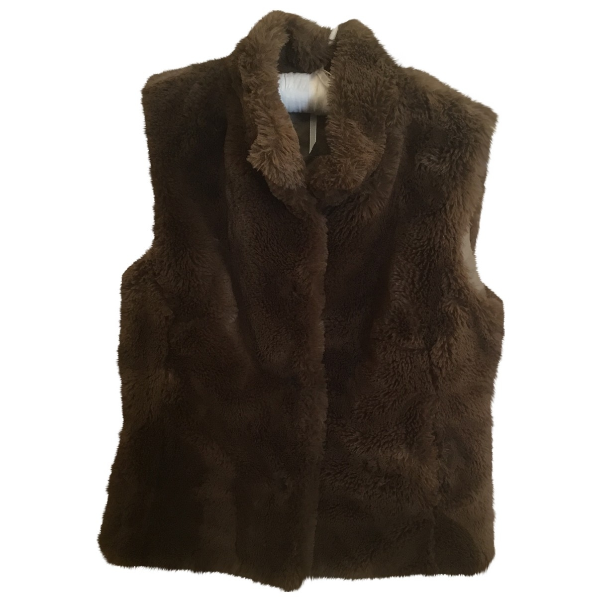 Non Signé / Unsigned \N Brown Faux fur jacket for Women 44 IT