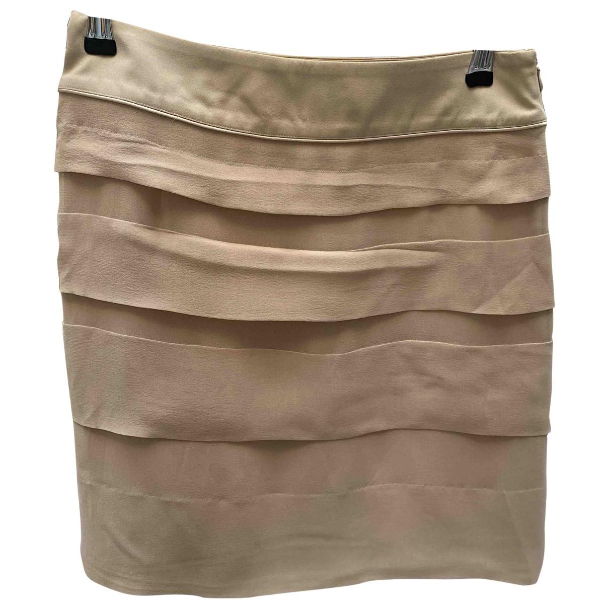 Barbara Bui \N Beige Silk skirt for Women 38 FR