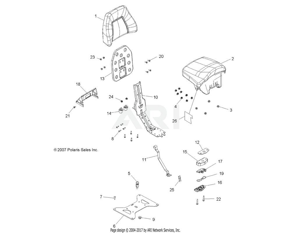 Polaris OEM 5813323 Foil, Seat Base, Passenger