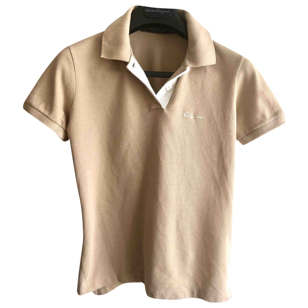 Salvatore Ferragamo \N Beige Cotton  top for Women 36 FR