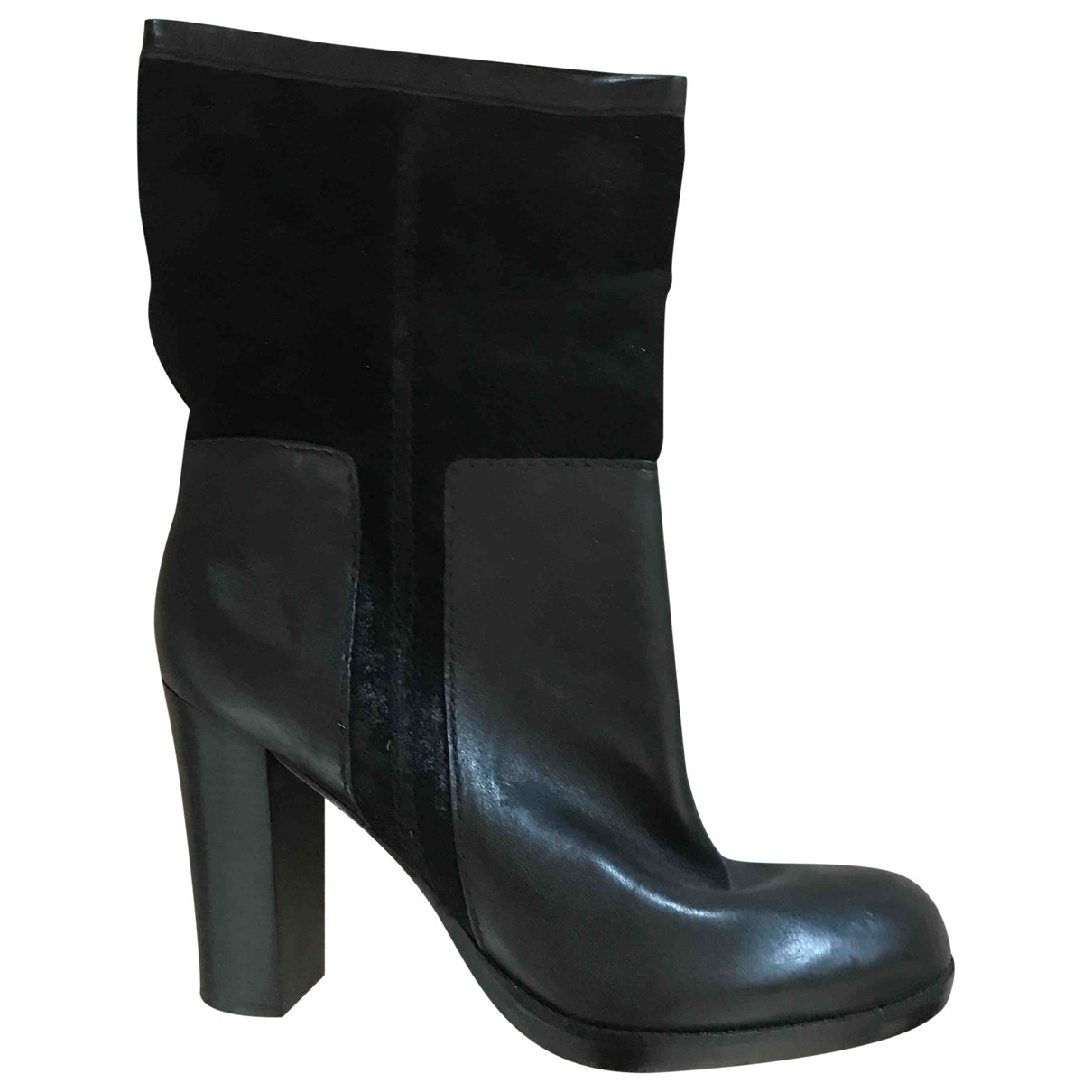 Nine West \N Black Leather Boots for Women 10 US