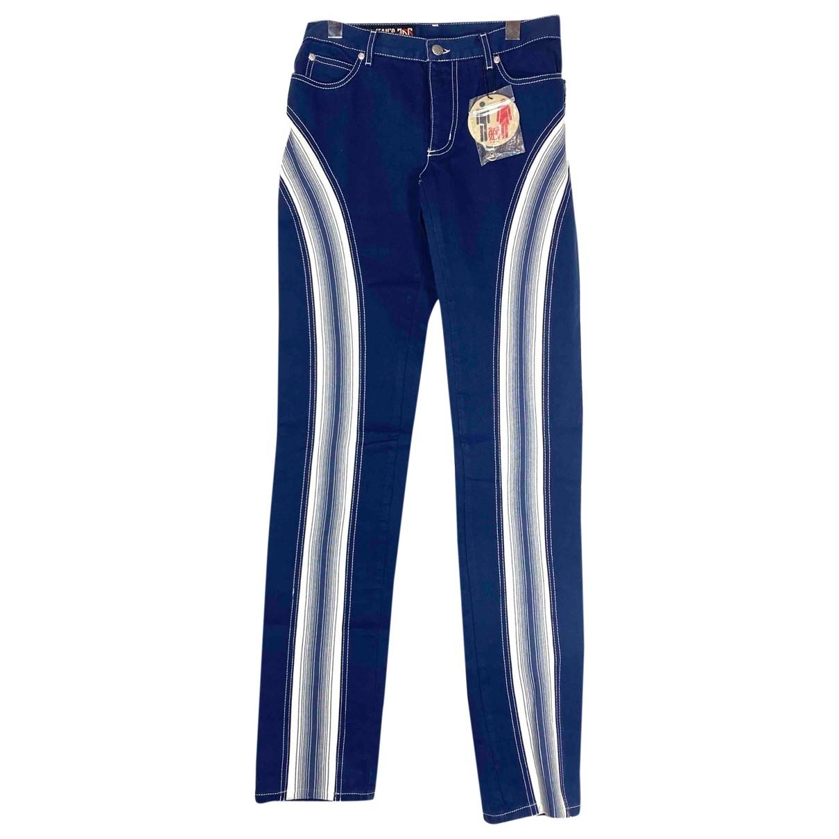 Jean Paul Gaultier \N Navy Cotton Jeans for Women 29 US