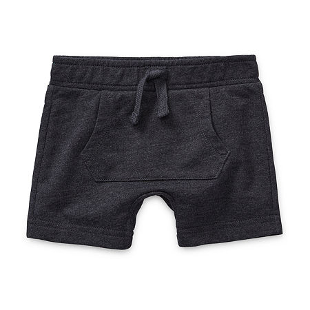 Okie Dokie Baby Boys Pull-On Short, 24 Months , Gray