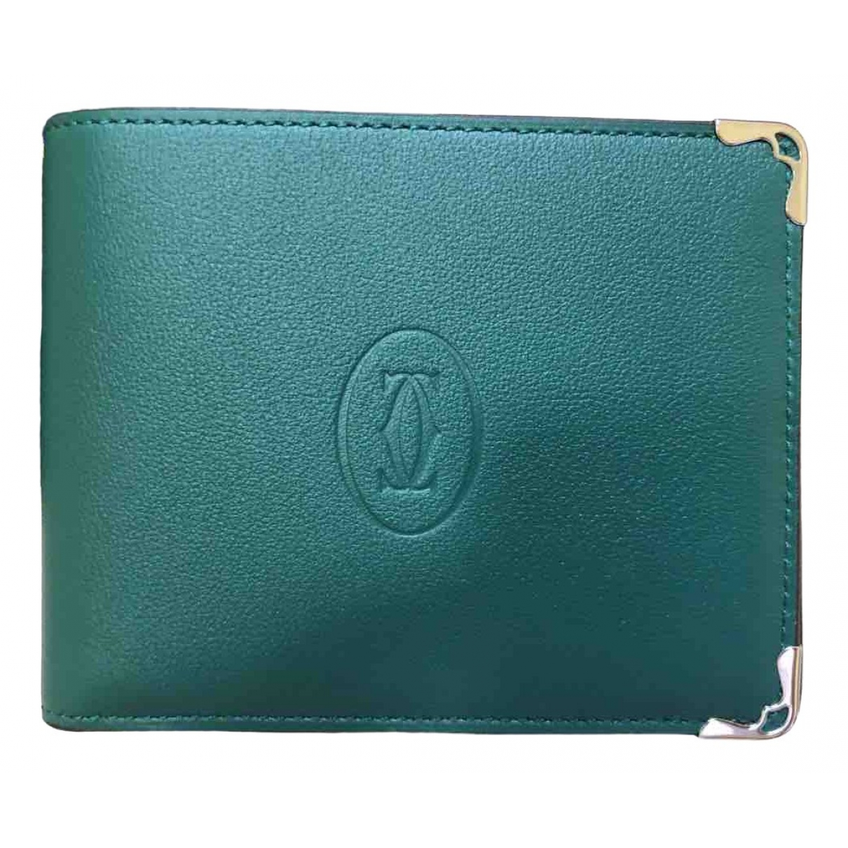 Cartier \N Green Leather Small bag, wallet & cases for Men \N