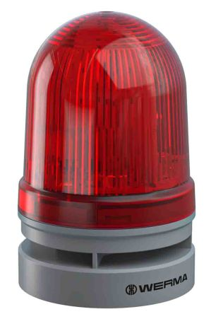 Werma EvoSIGNAL Midi Sounder Beacon Red LED, 115-230 V