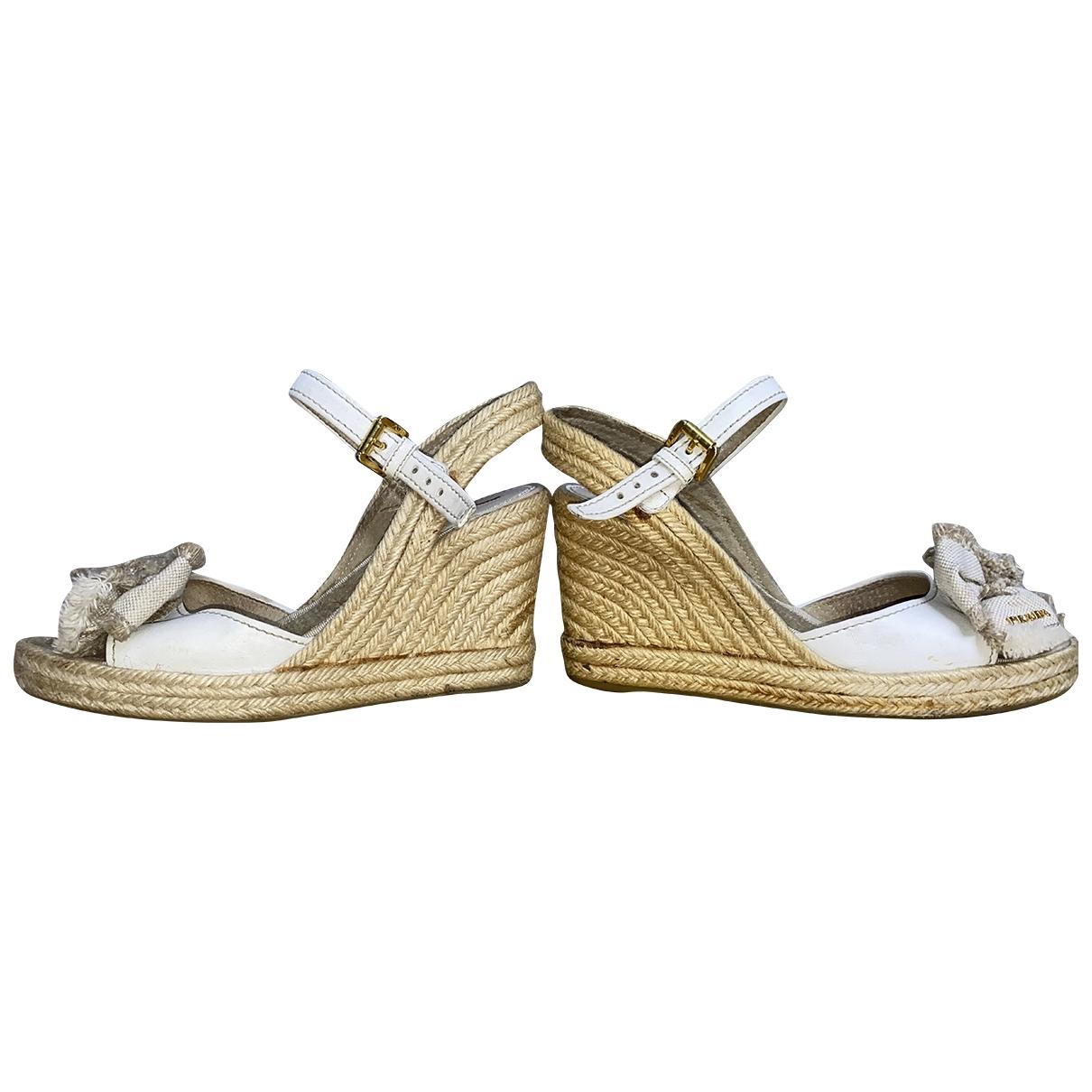Prada \N Beige Cloth Sandals for Women 39 IT