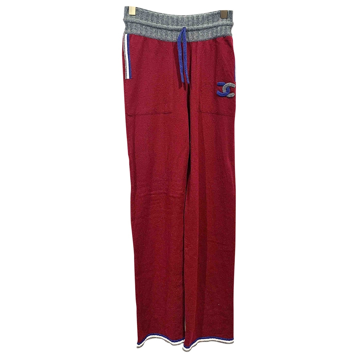 Chanel \N Burgundy Cashmere Trousers for Women 38 FR
