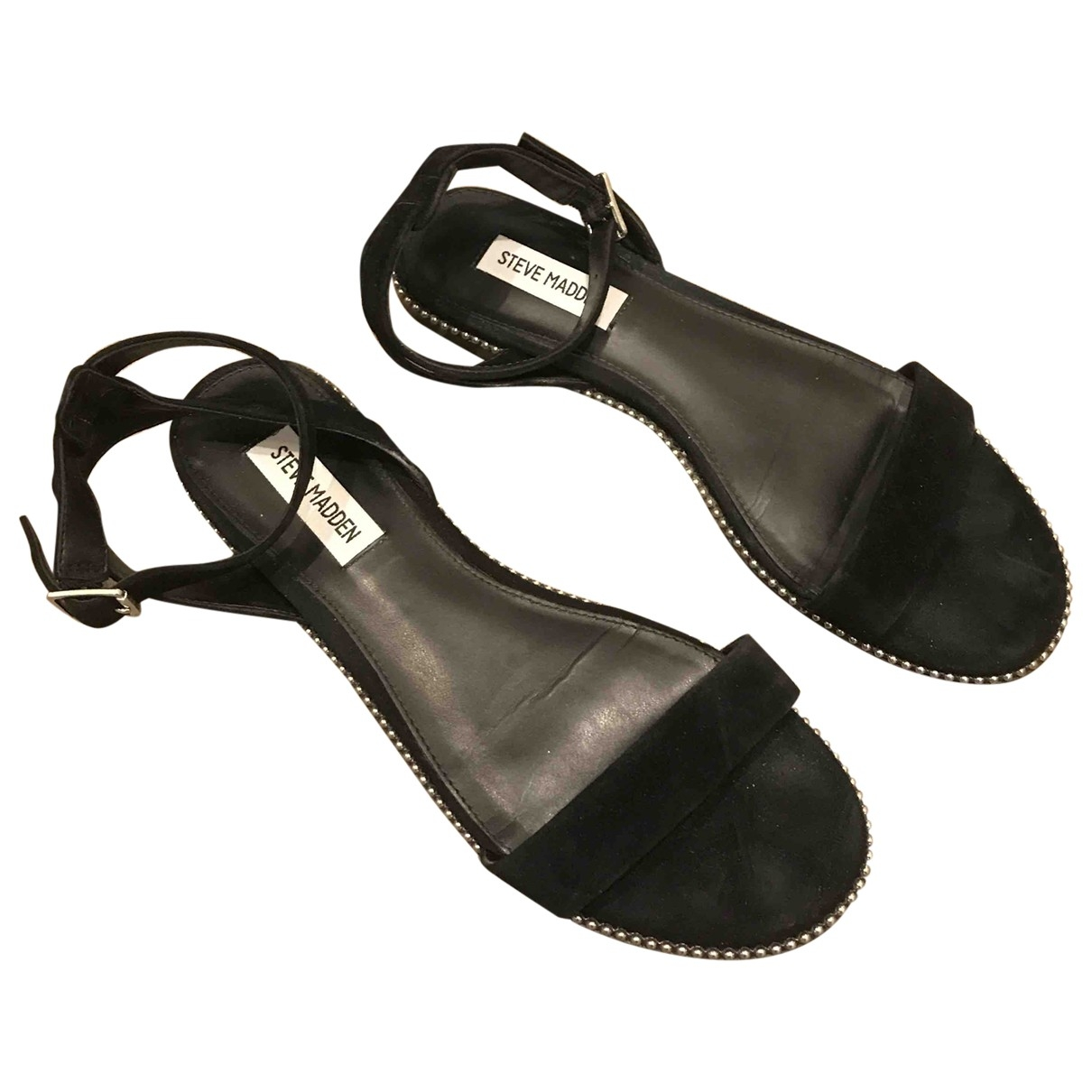 Steve Madden \N Black Suede Sandals for Women 40 EU