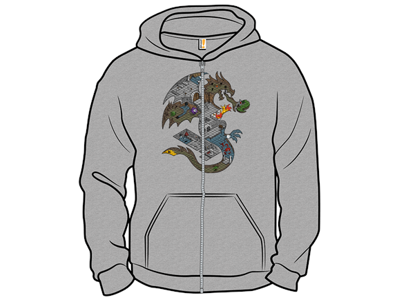 Dungeons In Dragons Pullover Hoodie