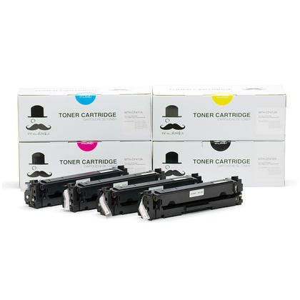 Compatible HP 410A cartouche de toner combo BK/C/M/Y - Moustache®