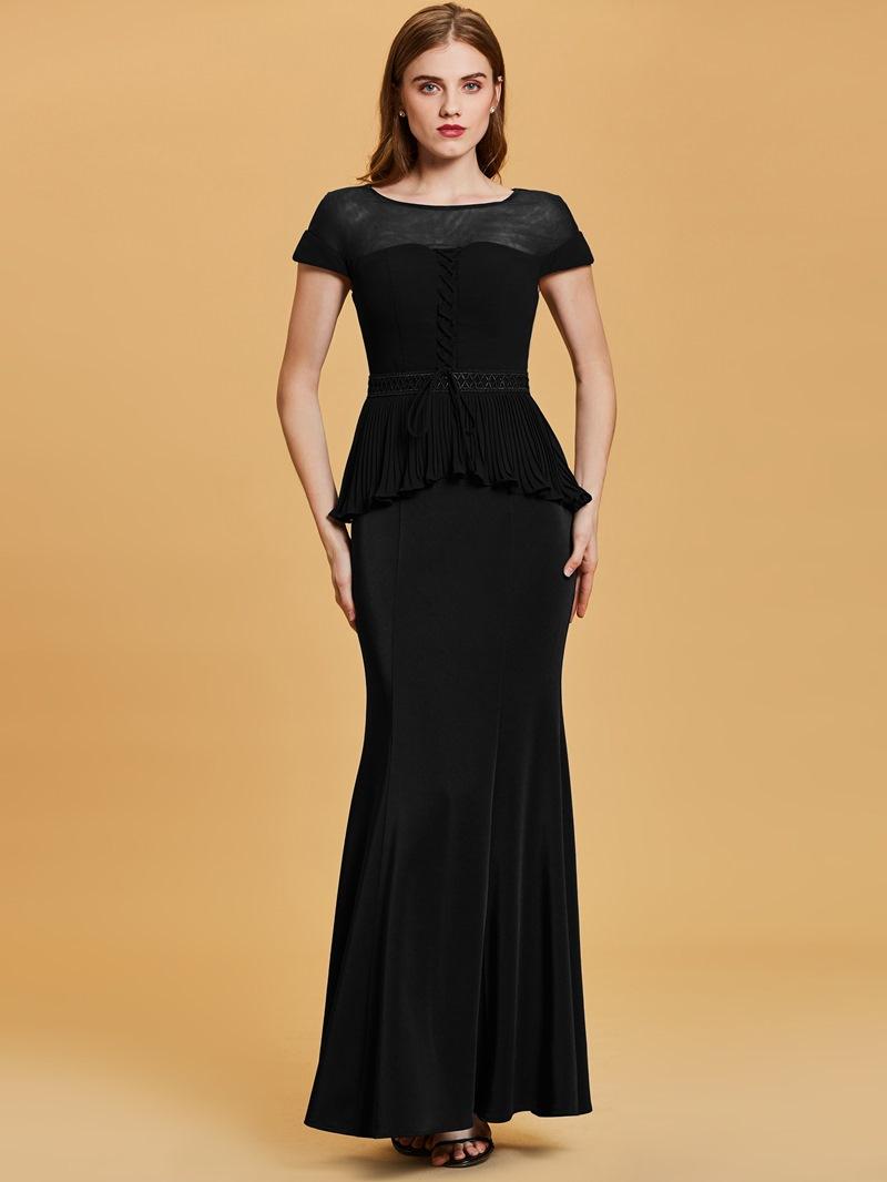 Ericdress Scoop Neck Short Sleeves Mermaid Evening Dress