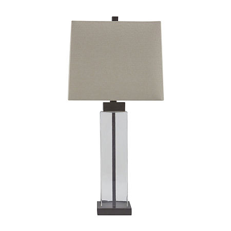 Signature Design by Ashley 2-pc. Glass Table Lamp, One Size , Brown