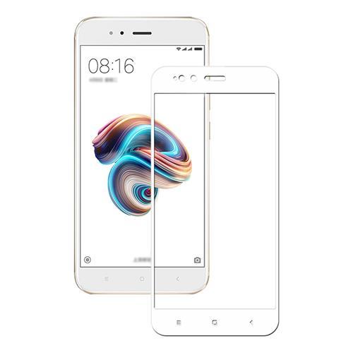 White Xiaomi Mi 5X/A1 Tempered Glass 0.26mm Full Screen Explosion-proof Membrane Screen Film