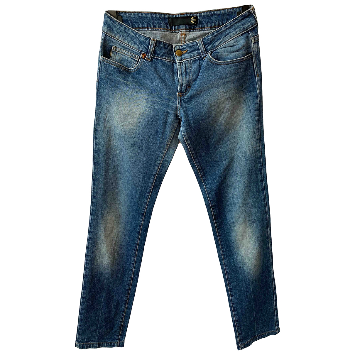 Just Cavalli \N Blue Cotton - elasthane Jeans for Women 28 US