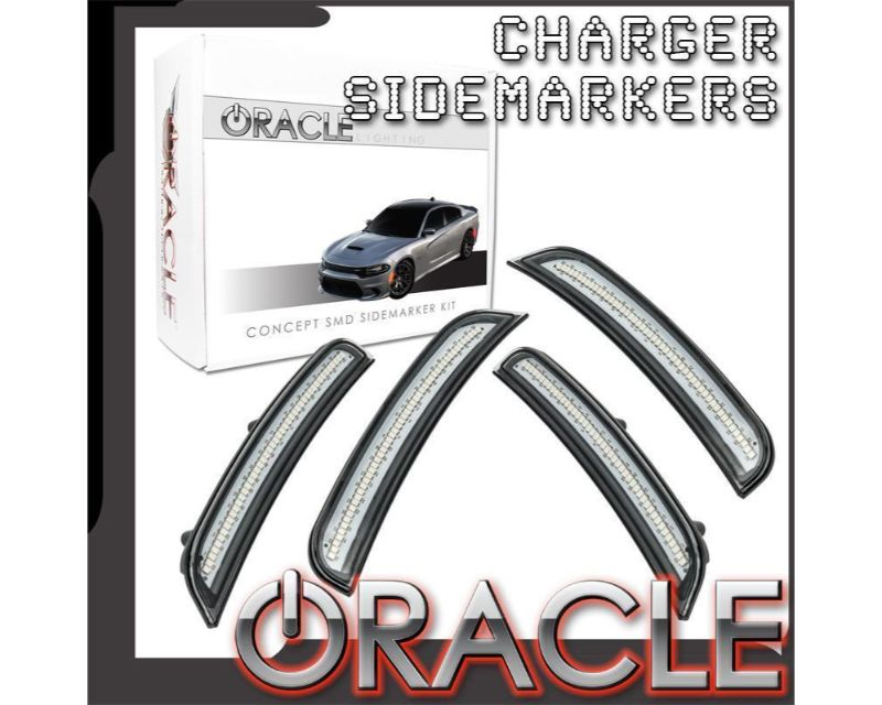 Oracle Lighting 9880-PFB-G Concept SMD Sidemarker Set Sublime Metallic - GHOSTED Dodge Charger 2015-2021