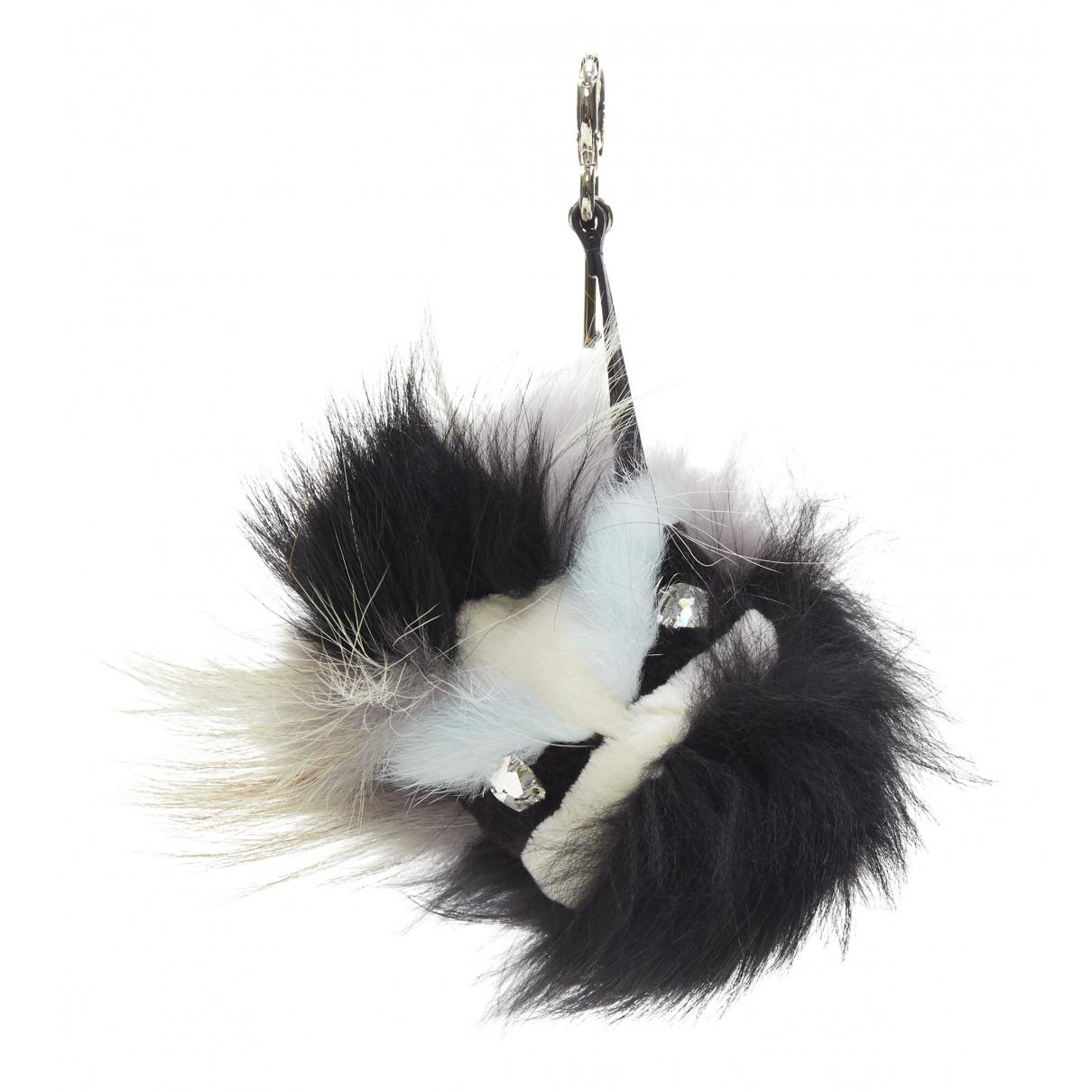 Fendi \N Black Fur Bag charms for Women \N