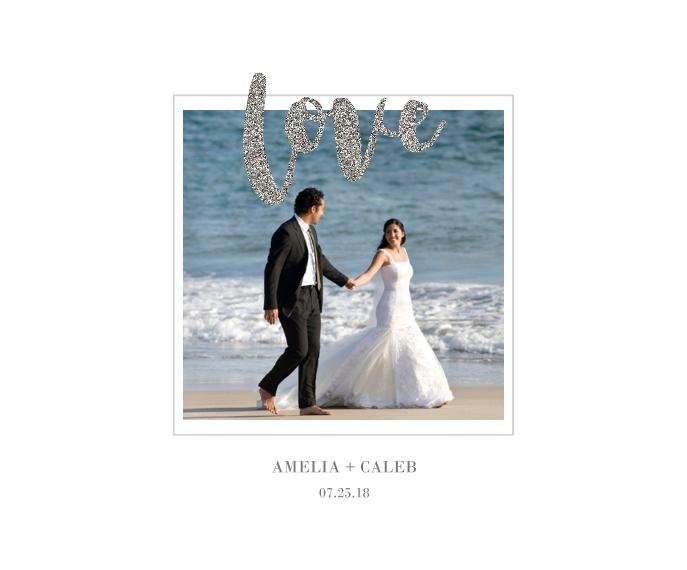 Love Framed Canvas Print, Oak, 16x20, Home Décor -Love Glitter