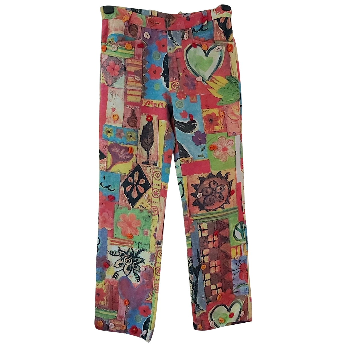 Moschino Cheap And Chic \N Multicolour Cotton Trousers for Women 10 UK