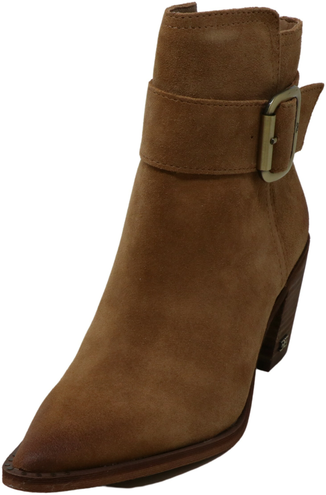 Sam Edelman Women's Leonia Suede Camel Ankle-High Leather Boot - 5M