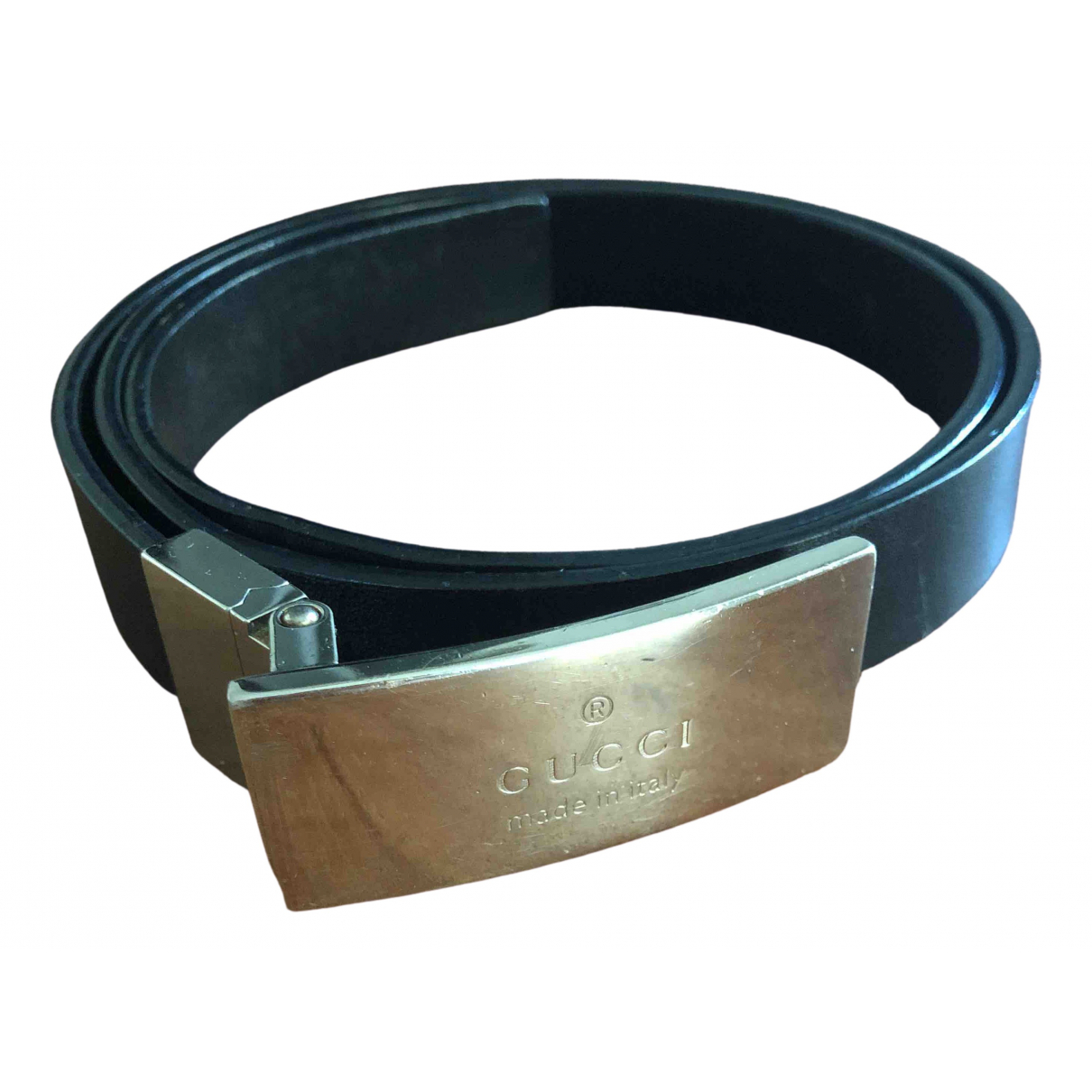 Gucci \N Black Leather belt for Women 75 cm