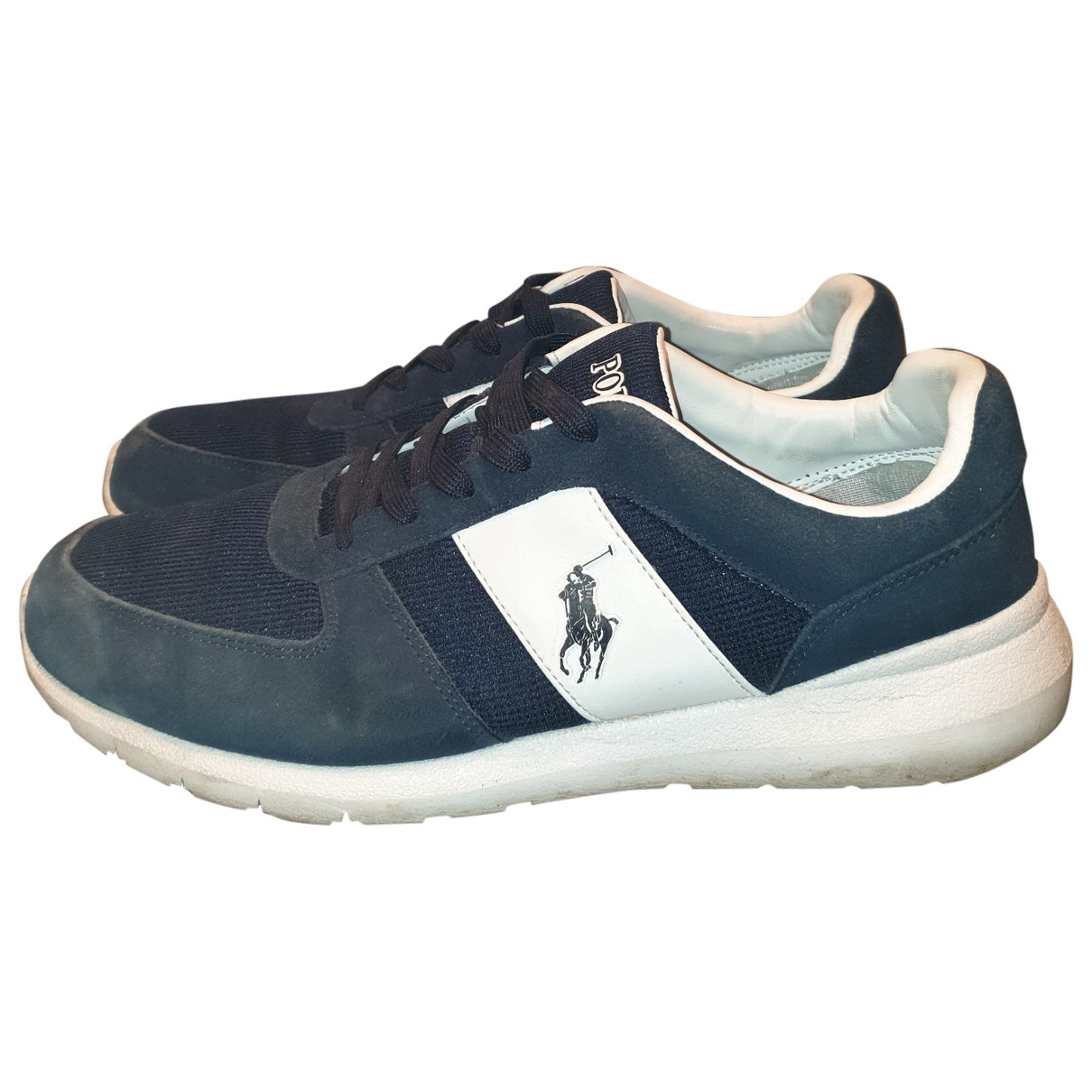 Polo Ralph Lauren \N Blue Leather Trainers for Men 46 EU