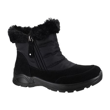 Easy Street Womens Frosty Waterproof Winter Boots, 6 1/2 Medium, Black