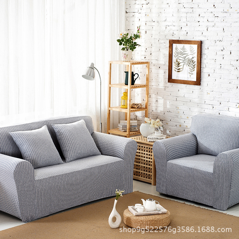 Fashion Simple Style Stripe Pattern Washable Slip Resistant Sofa Cover