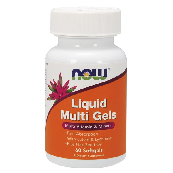 Liquid Multi 60 Sgels by Now Foods