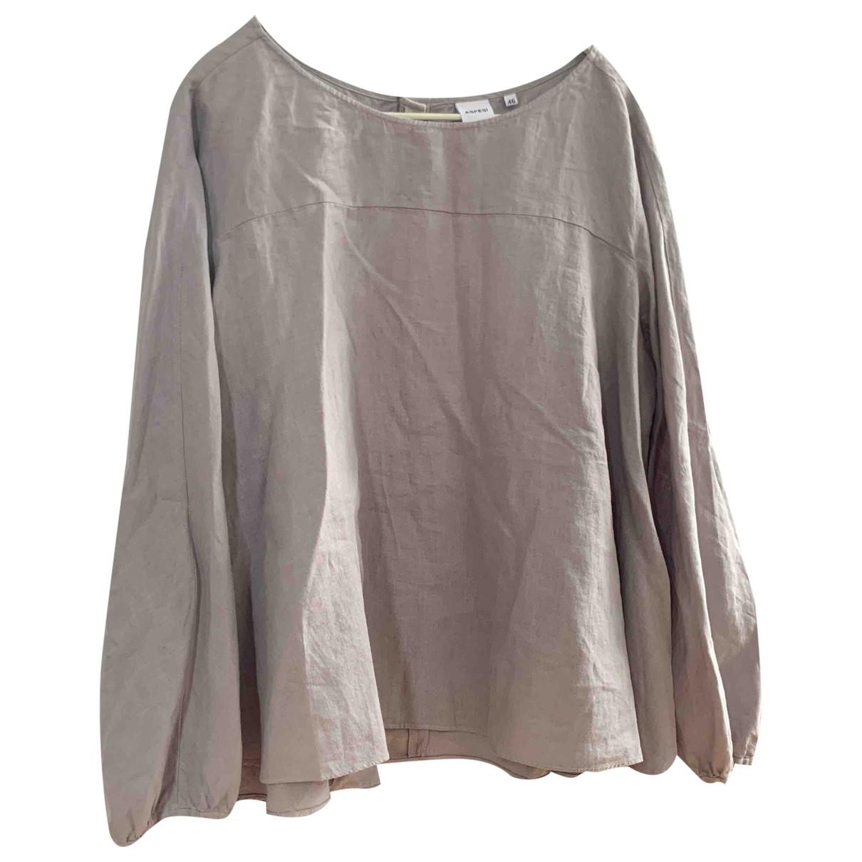 Aspesi \N Grey Linen  top for Women 46 IT
